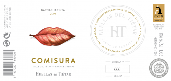 Etiqueta Comisura tinto 2019